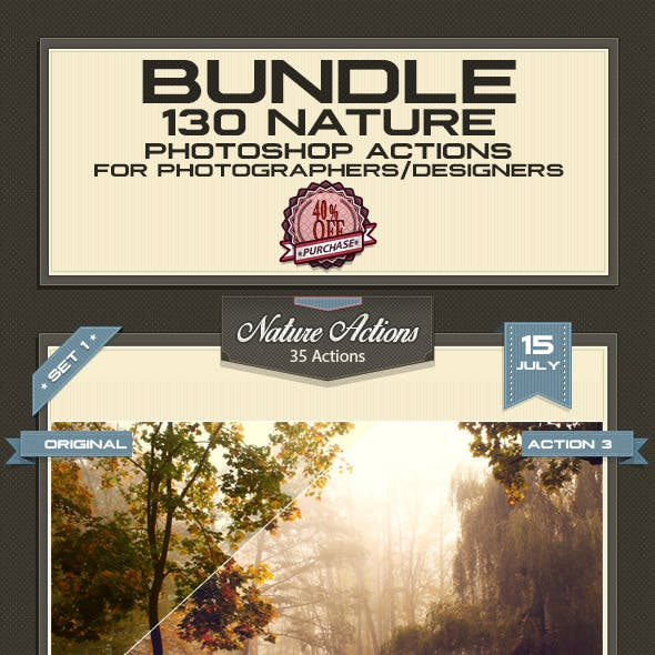 Nature Photoshop Actions - Bundle