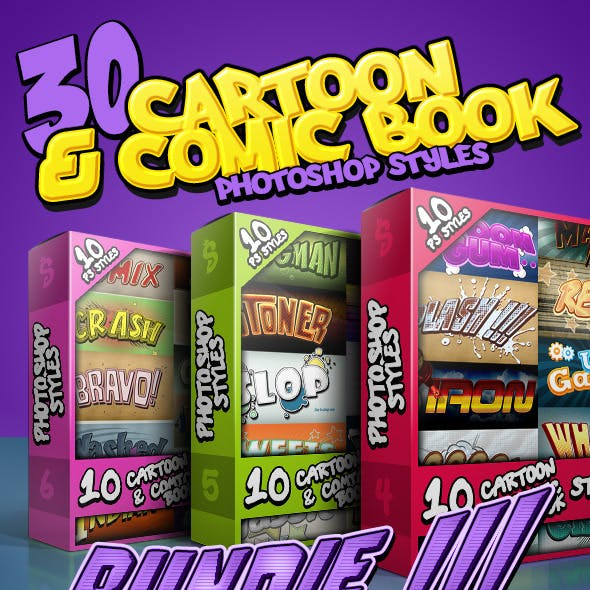 Cartoon and Comic Book Styles Bundle 2