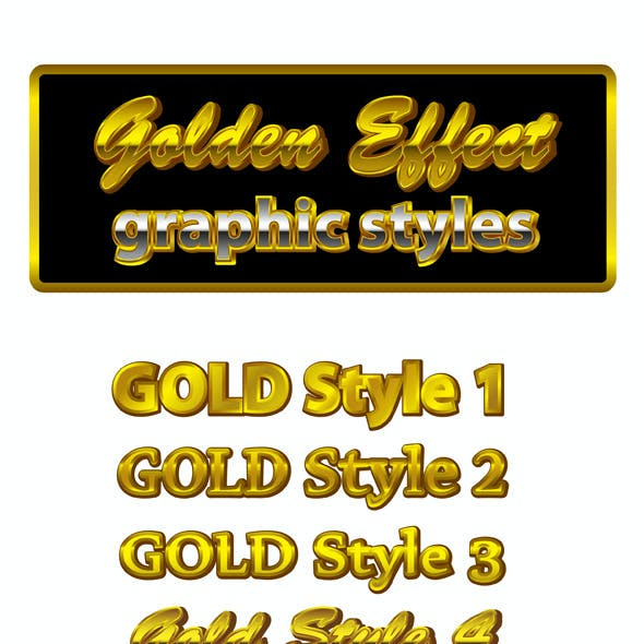 Golden Graphic Styles for AI