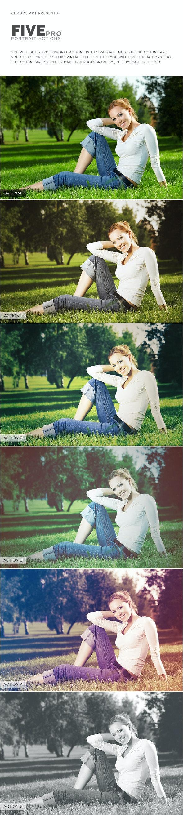 5 Pro Portrait Action - Photo Effects Actions
