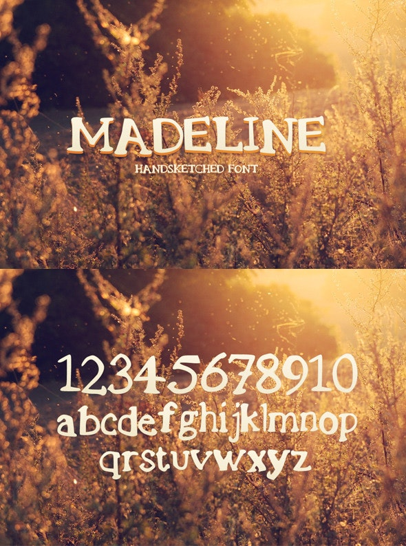 Madeline Handsketched Font - Handwriting Fonts