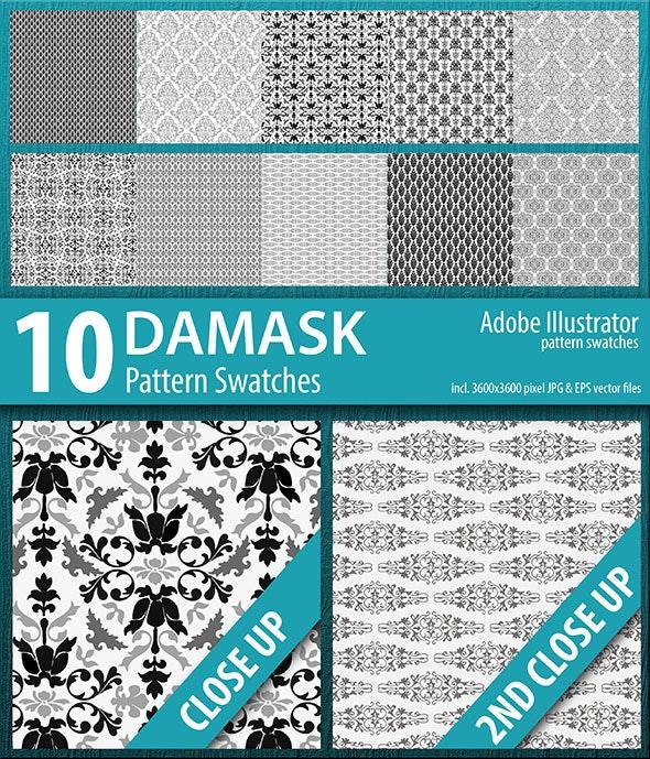 10 Damask Flourish Pattern Swatches