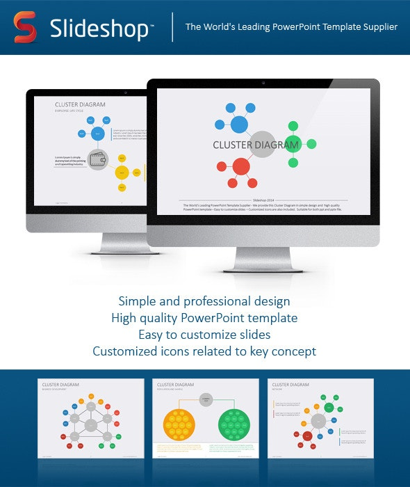 Cluster Diagram Flat - Creative PowerPoint Templates