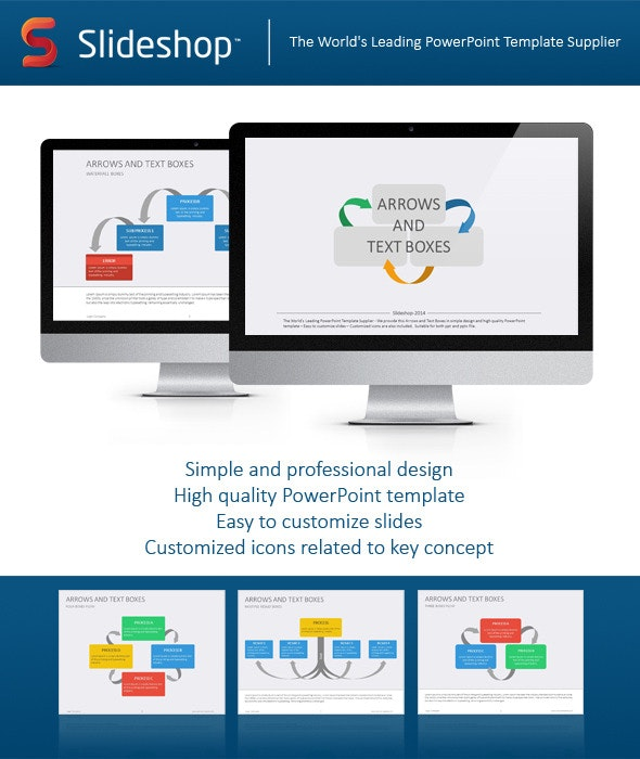 Arrows & Text Boxes Flat - Creative PowerPoint Templates
