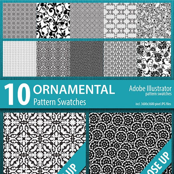 10 Ornamental Pattern Swatches