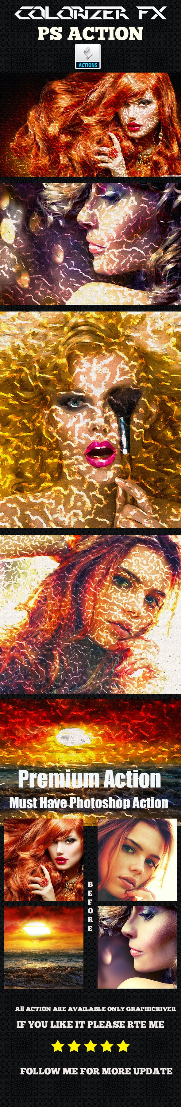 Colorizer Fx Photoshop Action - Photo Effects Actions