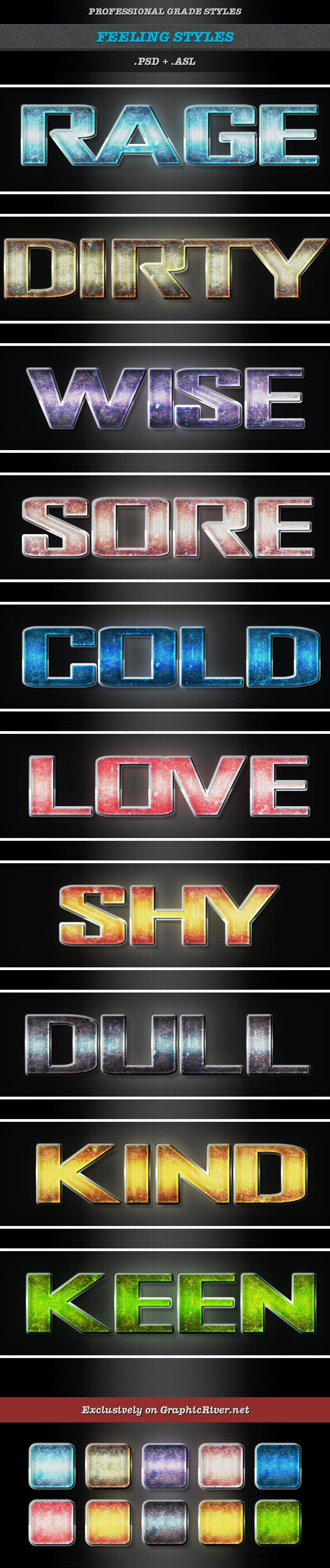 Feeling Styles - Text Effects Styles