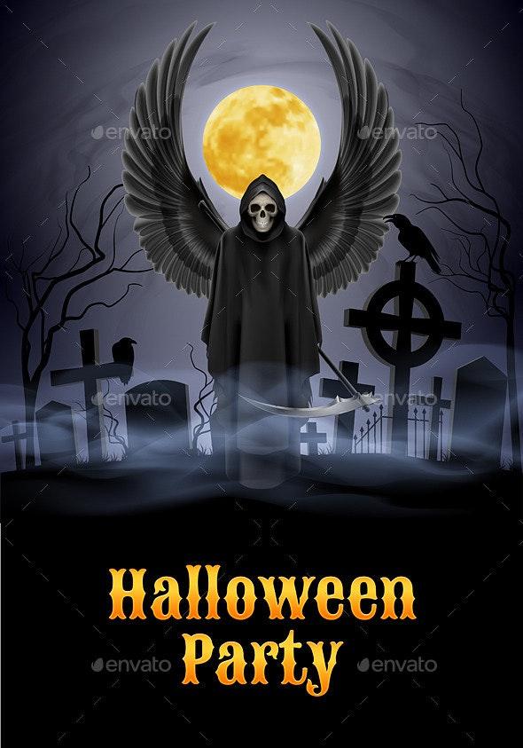 Halloween Party Illustration - Halloween Seasons/Holidays
