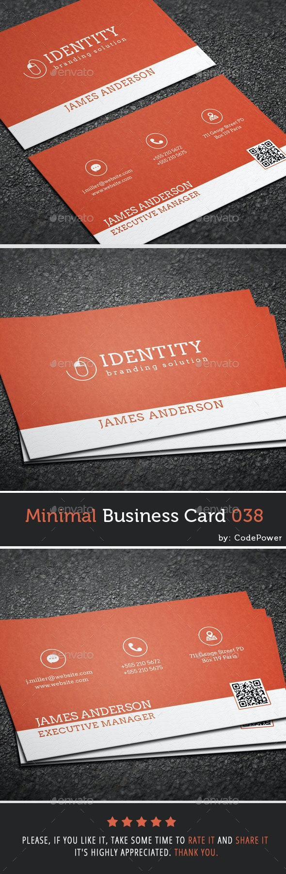 Minimal Business Card 038 - Corporate Business Cards