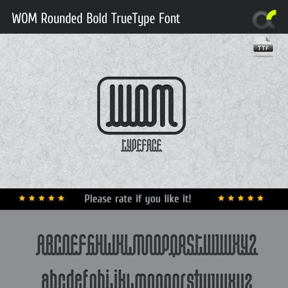 WOM Rounded Bold TrueType Font