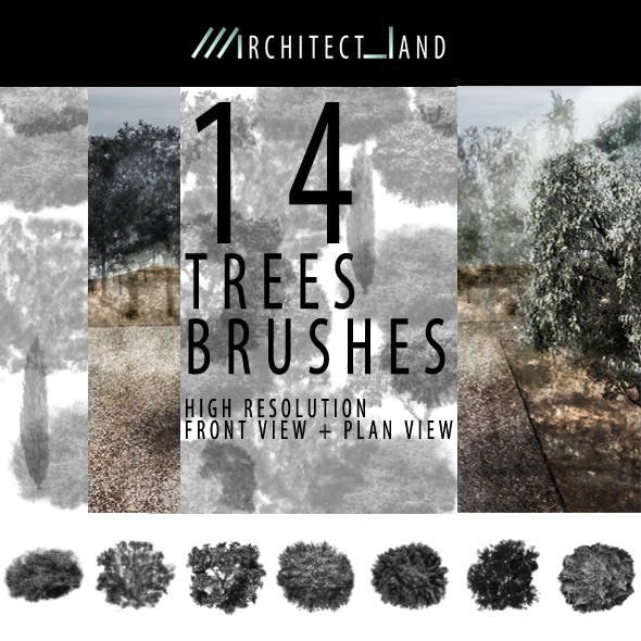 14 Trees Brush Set