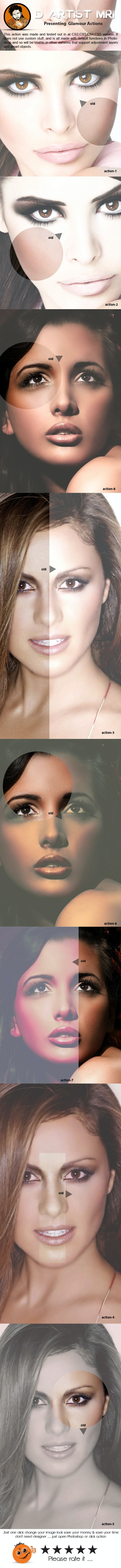 Glamour Actions - Actions Photoshop