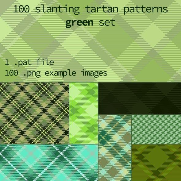 Tartan Pattern Collection - Slanting Green set