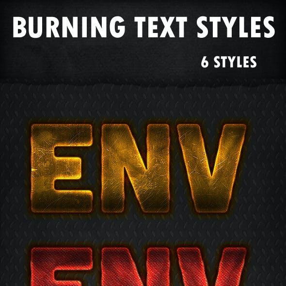 Burning Text Styles