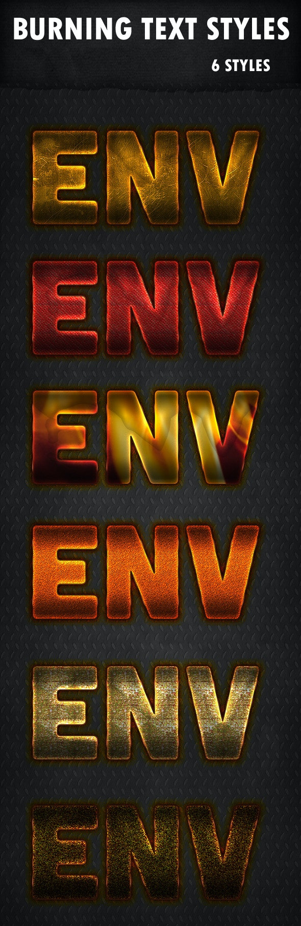 Burning Text Styles - Text Effects Styles