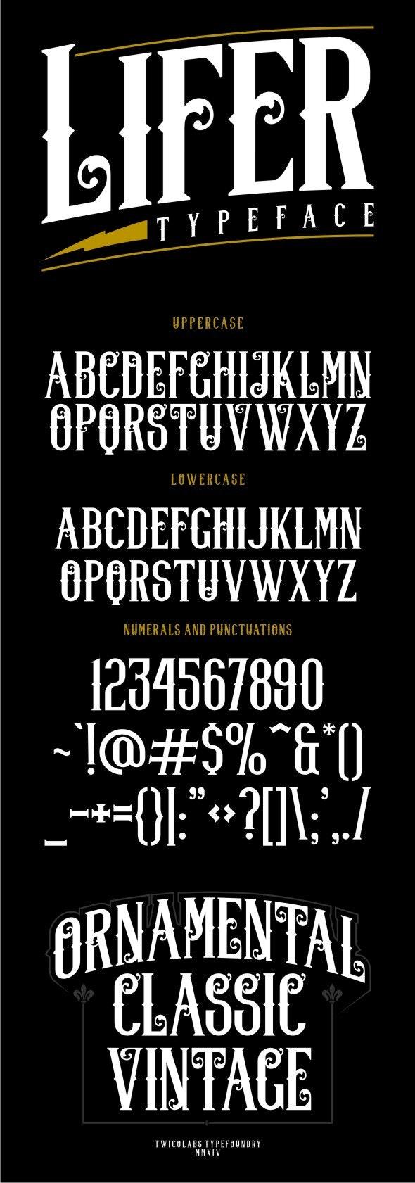 Lifer Typeface - Gothic Decorative