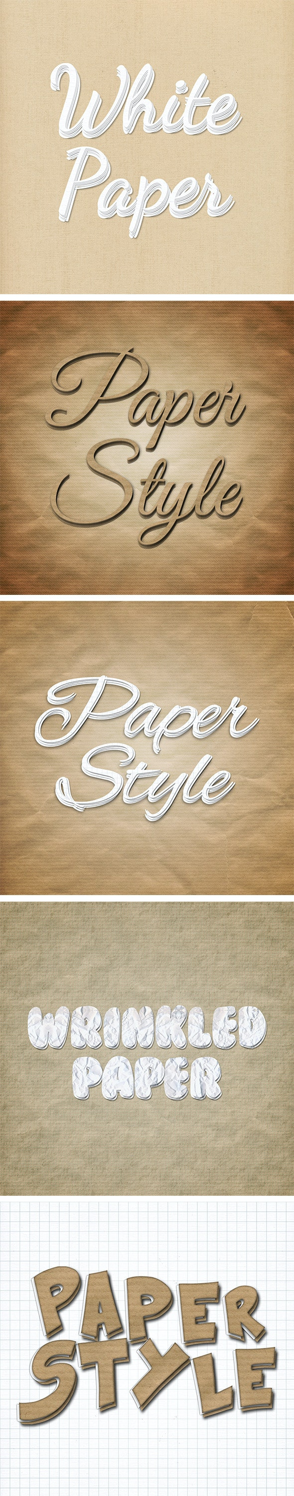 Paper Text Styles - Text Effects Styles