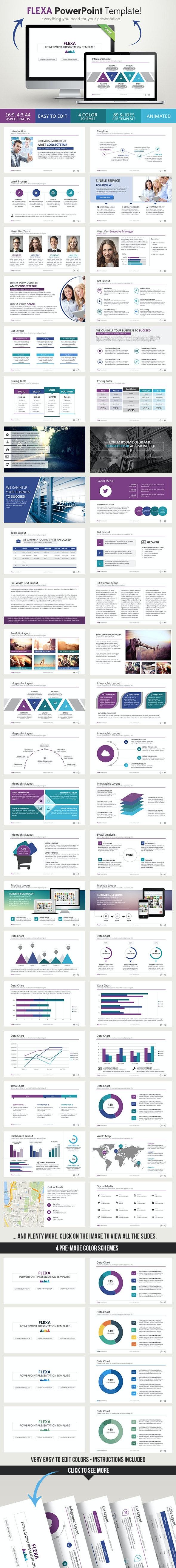 Flexa PowerPoint Presentation Template - Business PowerPoint Templates