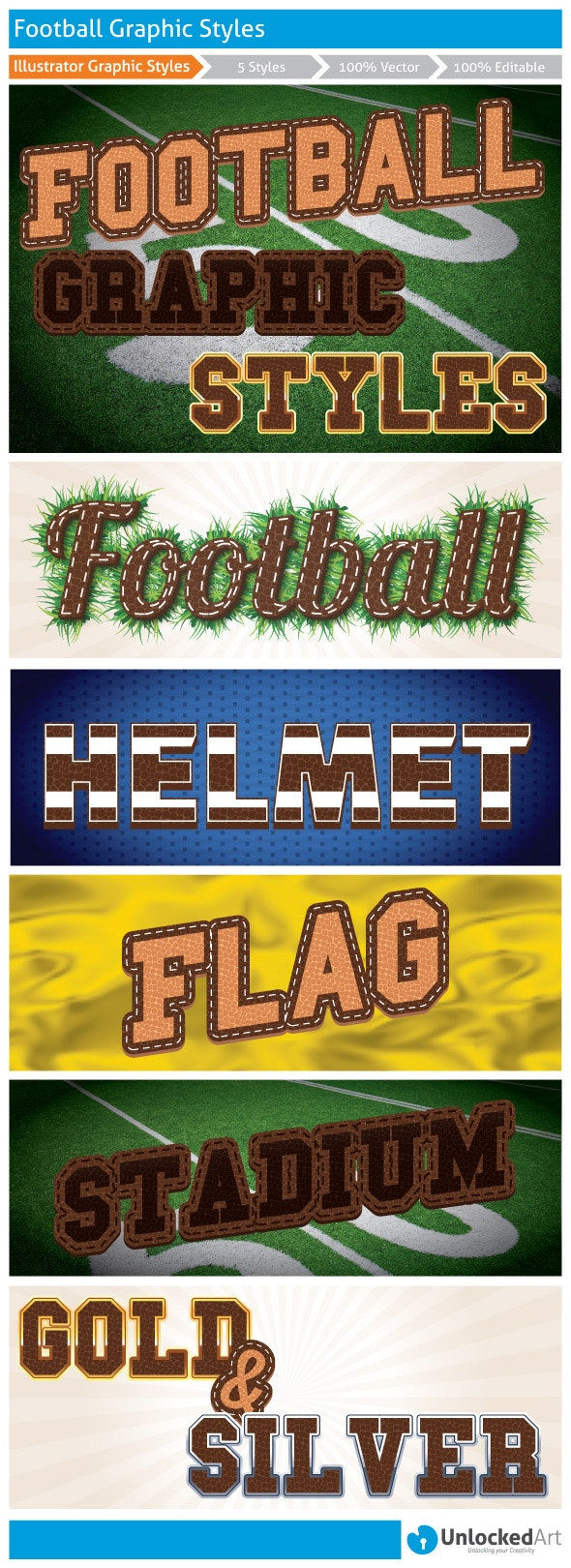 Football Graphic Styles - Styles Illustrator