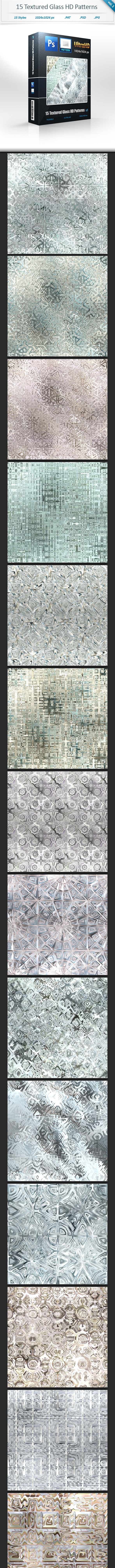 Textured Glass Tileable HD Patterns (vol 1) - Textures / Fills / Patterns Photoshop