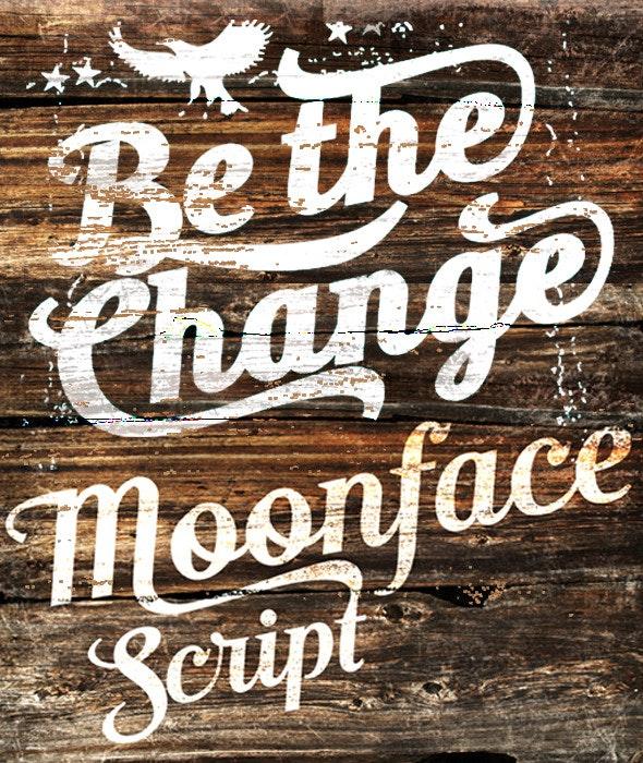 Moonface Script - Script Fonts