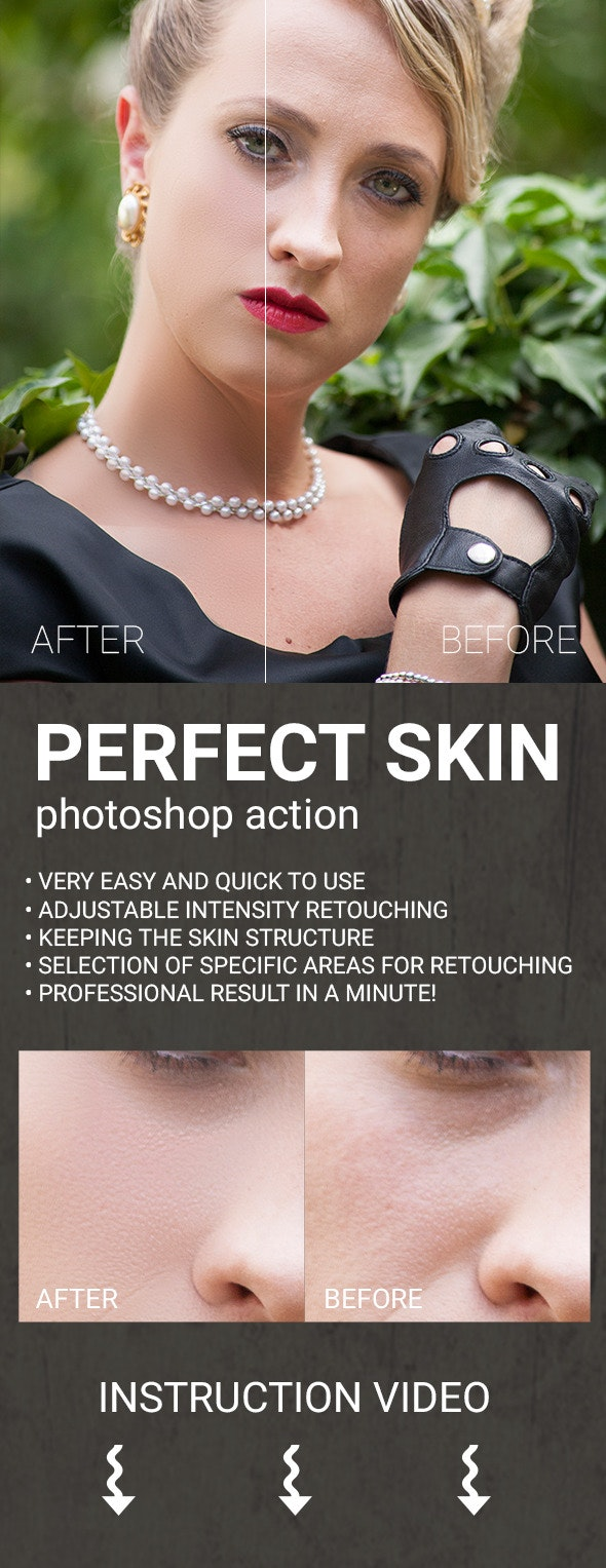Perfect Skin - Photoshop Action - Photo Effects Actions