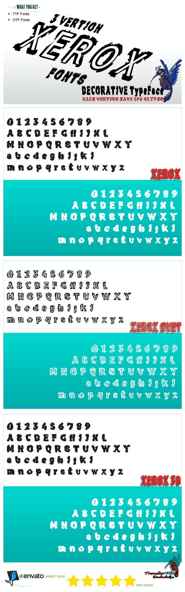 Xerox - Decorative Fonts