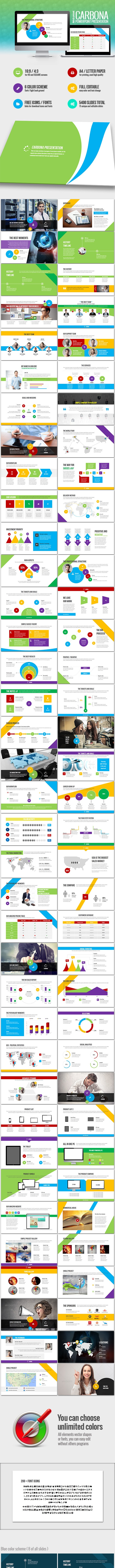 Carbona - professional business presentation - Business PowerPoint Templates