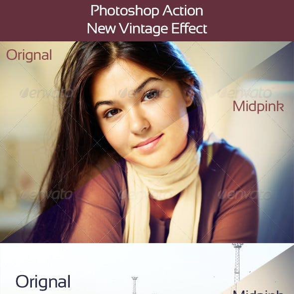Photoshop Action 01-New Vintage Effect