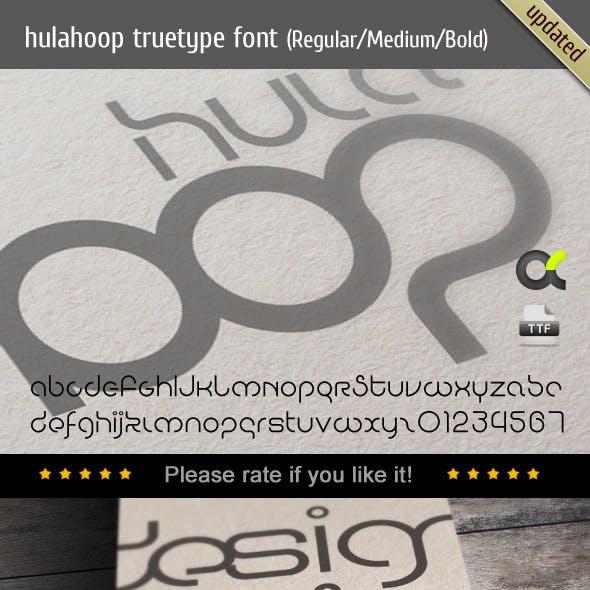 HulaHoop TrueType Font