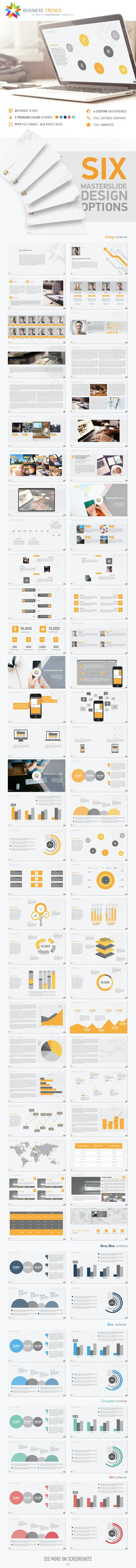 Business Trends PowerPoint Template - Business PowerPoint Templates