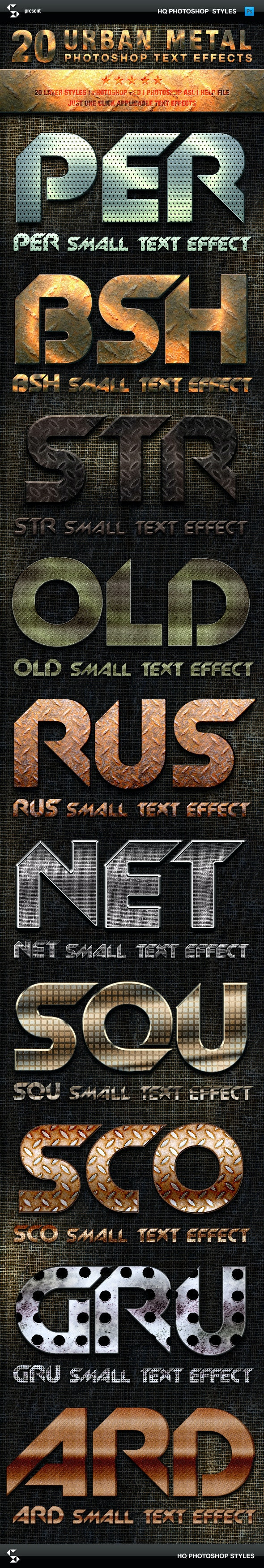 Metal Styles - Urban Metal Text Effects - Text Effects Styles