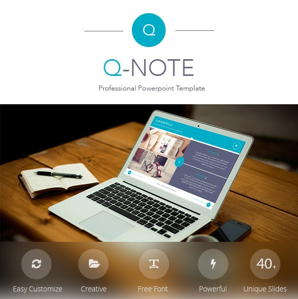 Q-Note Powerpoint Template - Business PowerPoint Templates