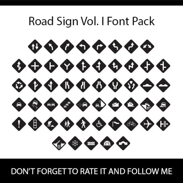 Road Sign Vol. I Font Pack