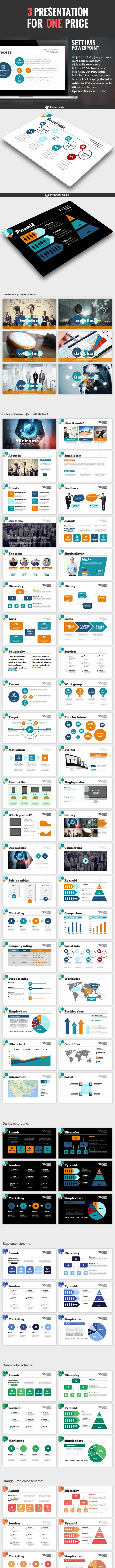 3 in 1 Powerpoint Bundle V3.0 - PowerPoint Templates Presentation Templates