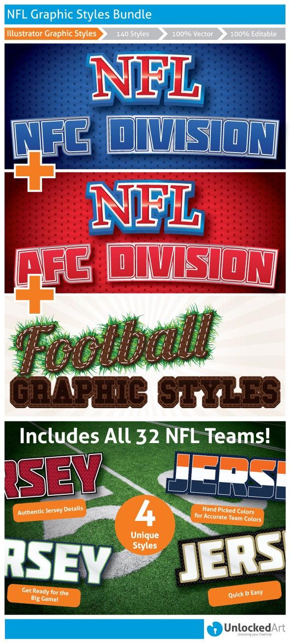 NFL Graphic Styles Bundle - Styles Illustrator
