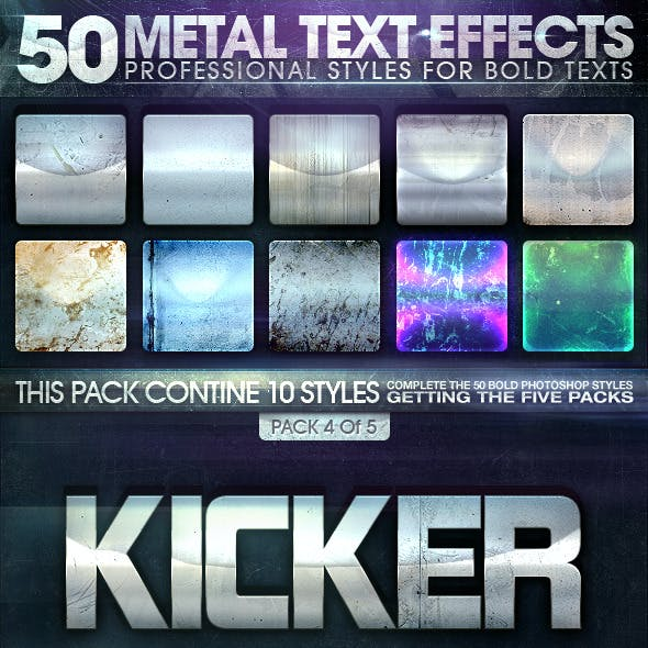 50 Metal Text Effects 4 of 5