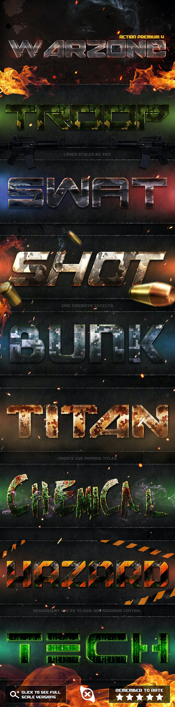Action Premium 4: Warzone - Text Effects Styles