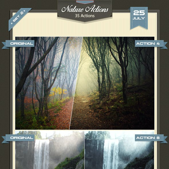 Nature Photoshop Actions Set 2