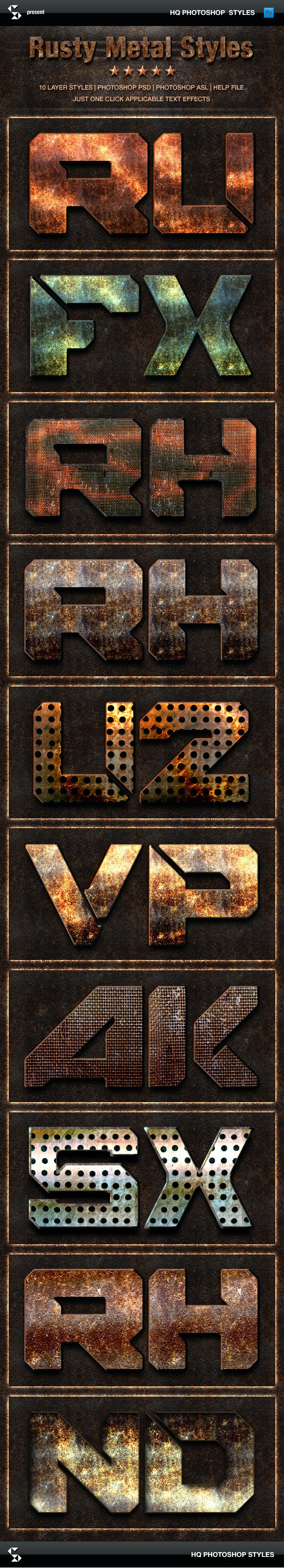 Rust Metal Styles - Grunge Metals Text Effects - Text Effects Styles