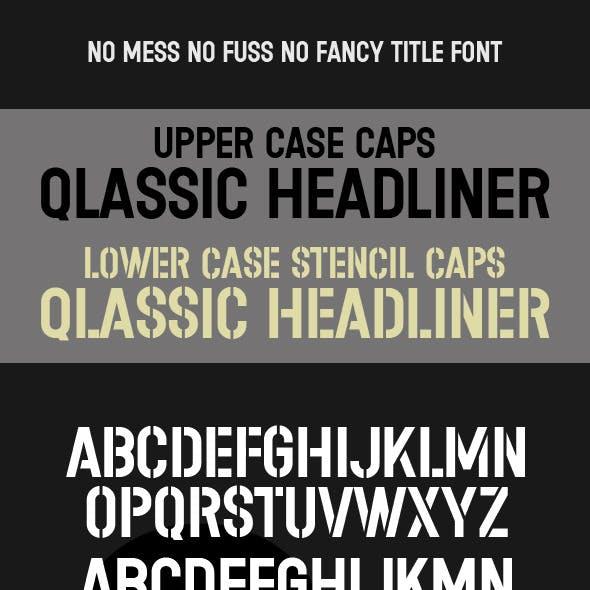 Stencil & Headline CAPS, Classic Title Type