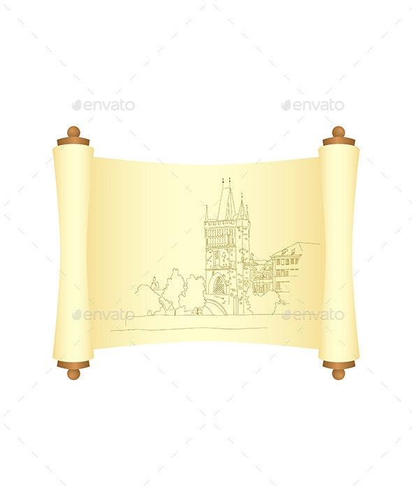 Charles Bridge in Prague - Buildings Objects