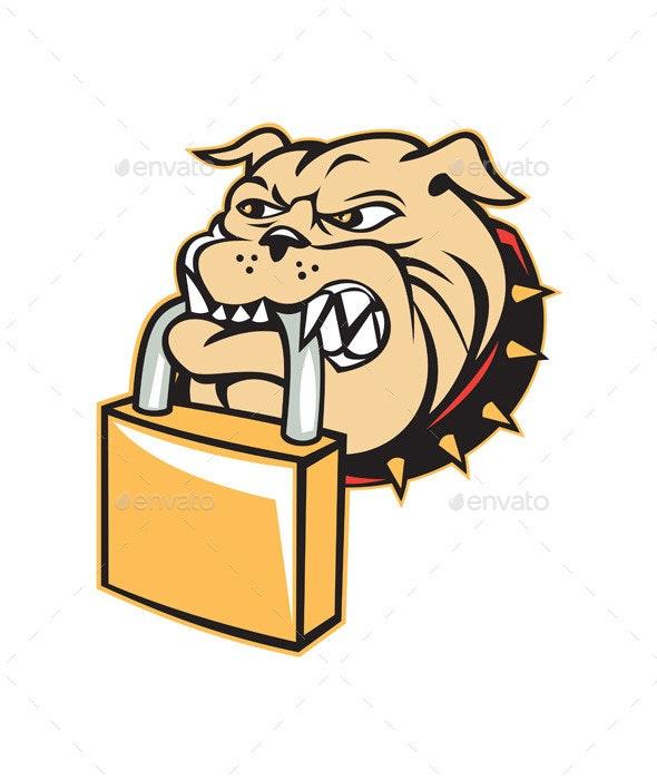 Bulldog Head Padlock - Animals Characters