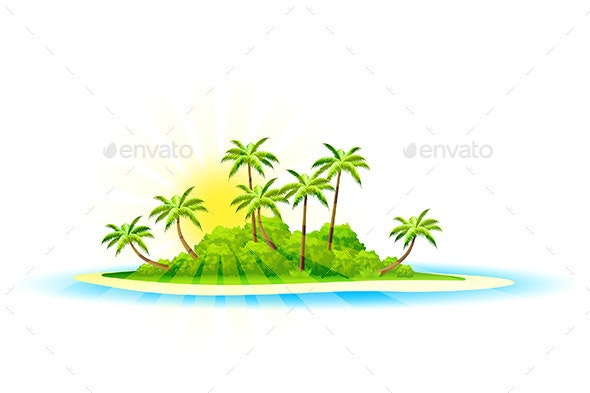 Tropical Island Background - Landscapes Nature