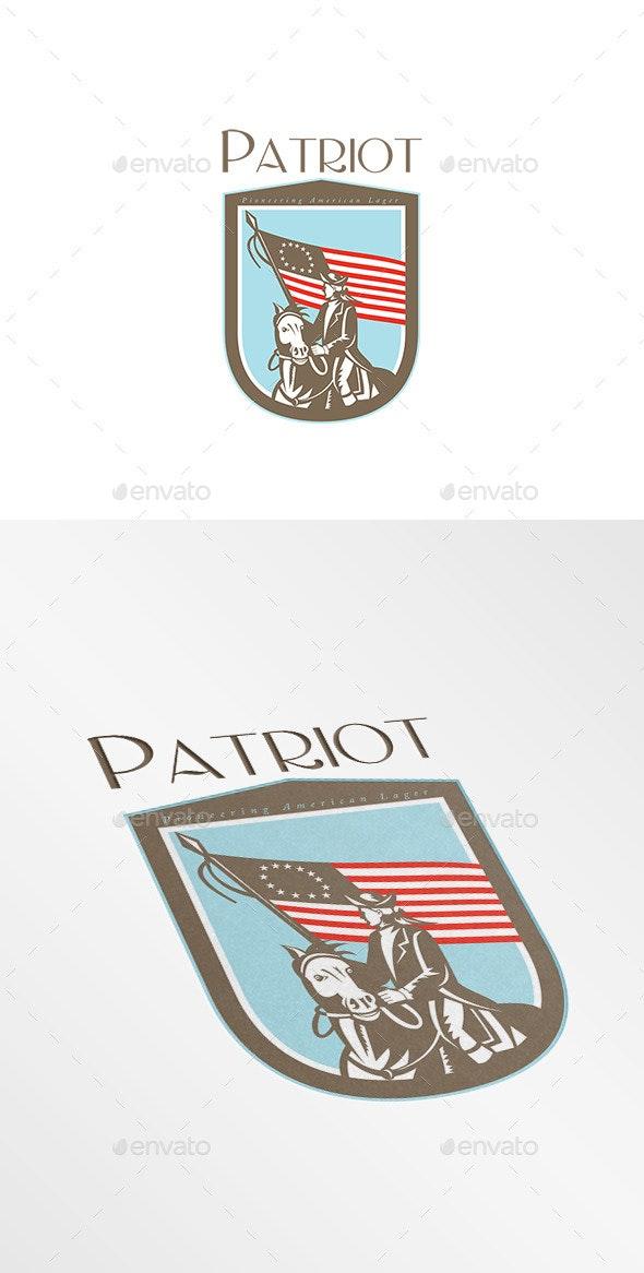 Patriot Pioneering American Lager Logo - Humans Logo Templates