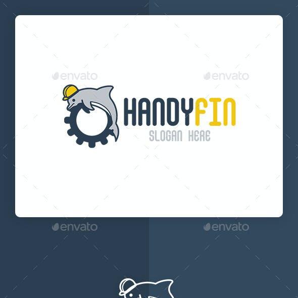 Handyfin Logo Template