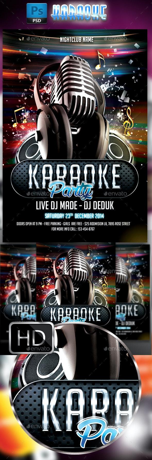 Karaoke Flyer #3 - Clubs & Parties Events