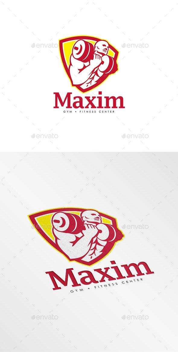 Maxim Gym Fitness Center Logo - Humans Logo Templates