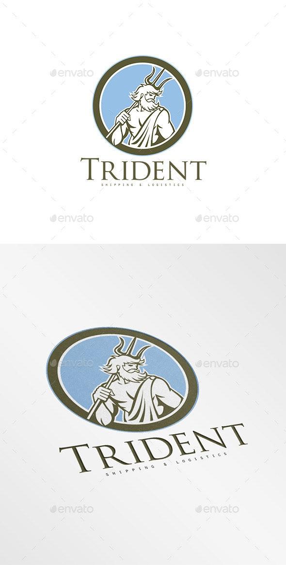 Trident Shipping and Logistics Logo - Humans Logo Templates