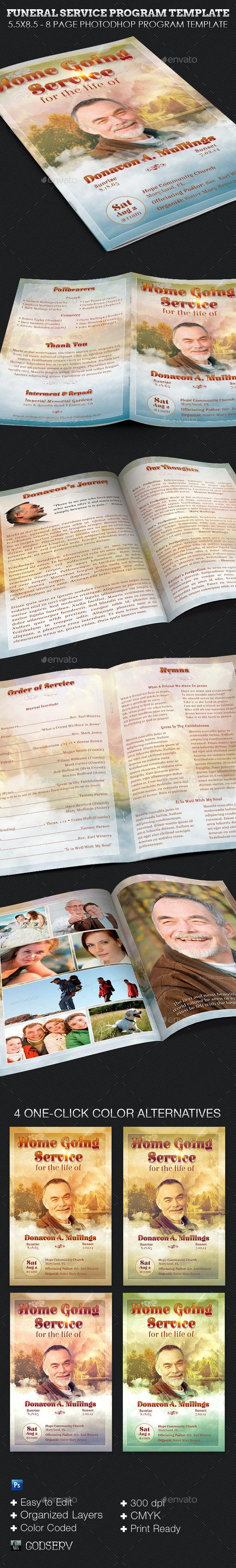 Funeral Program Service Template - Informational Brochures